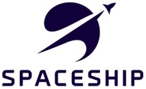 Spaceship logo vertical